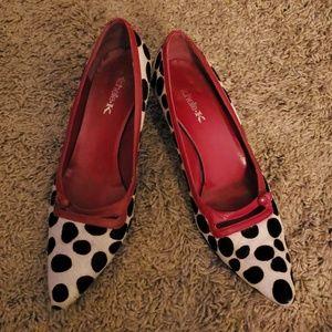 Michelle K animal print kitten heel shoes -8